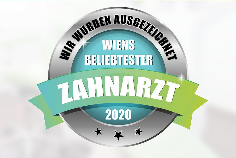 """Siegel """"beliebtester Zahnarzt 2020"""""""