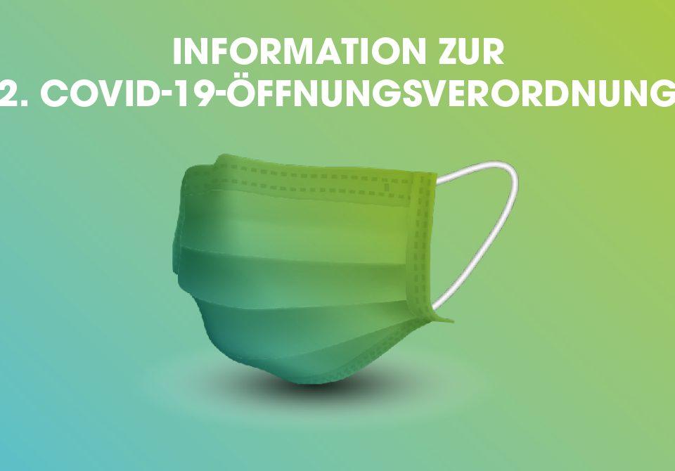 Information zur 2. Covid-19.-Öffnungsverordnung